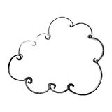 Cute cloud drawing icon Stock Photography