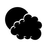 Cute cloud drawing icon Stock Images