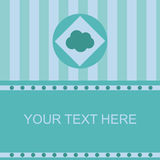 Cute cloud frame Stock Photography