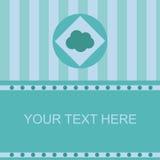 Cute cloud frame Stock Photography