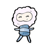 Cute cloud head creature cartoon Royalty Free Stock Photos