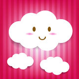 Cute Cloud Icon Stock Photo