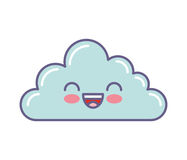 Cute cloud kawaii face