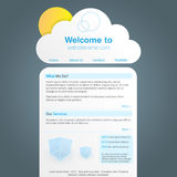 Cute cloud shaped website design Royalty Free Stock Image