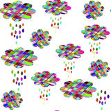 Cute clouds seamless pattern. It is located in swatch menu, vect. Or   image Royalty Free Stock Photography