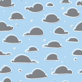 Cute clouds seamless pattern Royalty Free Stock Photo