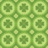 Cute clover pattern Royalty Free Stock Image