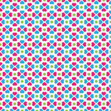Cute Clover Shape Vector Pattern Stock Image