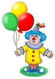 Cute clown with balloons. Color illustration Royalty Free Stock Images