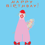 Cute clown Royalty Free Stock Photos