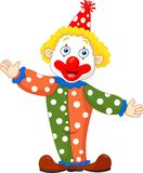 Cute clown cartoon Stock Photos