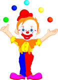 Cute clown cartoon Stock Photo