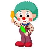 Cute clown cartoon Stock Photos