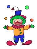 Cute clown cartoon illustration drawing coloring drawing illustration white background. Cute clown cartoon illustration drawing coloring and white background Stock Illustration
