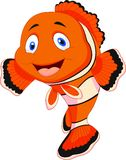 Cute clown fish cartoon Royalty Free Stock Images