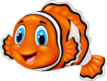 Cute clown fish cartoon Royalty Free Stock Photography