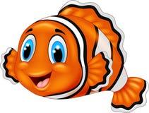 Cute clown fish cartoon. Illustration of cute clown fish cartoon Royalty Free Stock Photography