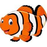 Cute clown fish cartoon Stock Photo