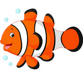 Cute clown fish cartoon Stock Photography