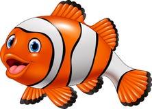 Cute clown fish cartoon Stock Images