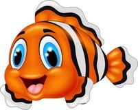Cute clown fish cartoon posing. Illustration of cute clown fish cartoon posing Stock Images