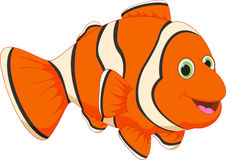 Cute clown fish cartoon Royalty Free Stock Photos