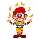 Cute Clown Monkey cartoon Stock Images