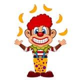 Cute Clown Monkey cartoon. Colourfull Stock Images