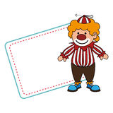 Cute clown toy icon Royalty Free Stock Image