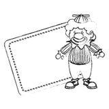 Cute clown toy icon. Vector illustration design Vector Illustration