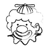 Cute clown toy icon. Vector illustration design Stock Illustration