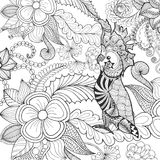 Cute cockatoo coloring page. Royalty Free Stock Images