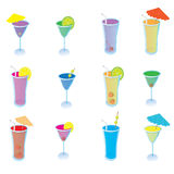 Cute Cocktail Drinks Royalty Free Stock Photos