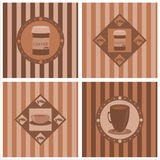 cute coffee backgrounds Royalty Free Stock Image