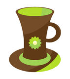 Cute coffee cup Royalty Free Stock Image