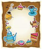 Cute coffee frame 1 Royalty Free Stock Photography