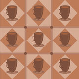 Cute coffee pattern Royalty Free Stock Photography