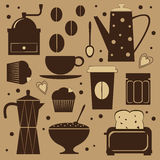 Cute coffee set Royalty Free Stock Photography