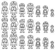 Cute Collection of Diverse Stick Figure Superheroes or Superhero Families Royalty Free Stock Image
