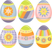 Cute collection of easter eggs Stock Photos