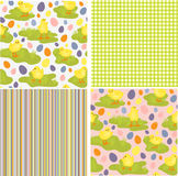 Cute collection of Easter patterns Royalty Free Stock Image