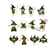 Cute collection of little devils Stock Images
