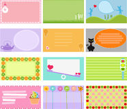 A Cute Collection of Vector Label / Card Royalty Free Stock Photography
