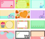 A Cute Collection of Vector Label / Card vector illustration