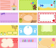 A Cute Collection of Vector Label / Card Stock Image