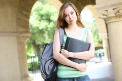 Cute College Girl Stock Photo