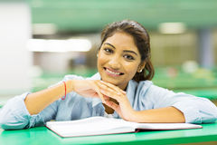 Cute college student Stock Image