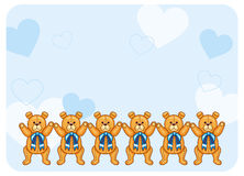 Cute color background with Teddy Bears Stock Images