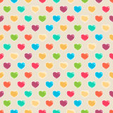 Cute colored hearts Stock Photos