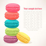 Cute colored macarons Royalty Free Stock Photo
